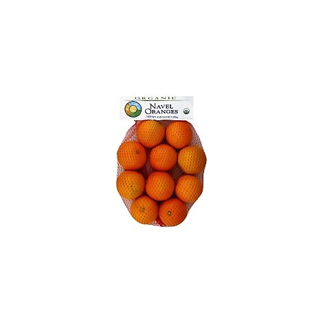 Oranges Navel Organic Prepacked - 4 Lb