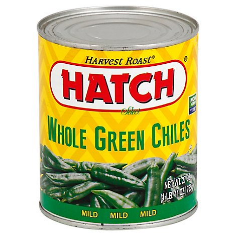 HATCH Select Green Chiles Whole Mild Can - 27 Oz