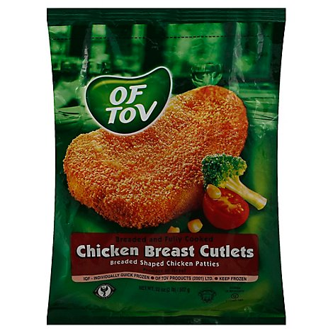 Of Tov Chicken Breaded Individually Quick Frozen - 32 Oz