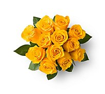 Yellow Orange Roses - 12 Count