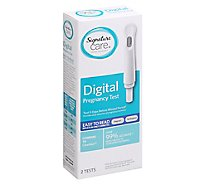 Signature Care Pregnancy Test Digital Easy To Read - 2 Count