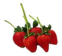 Strawberries Long Stem Prepacked - 1 Lb