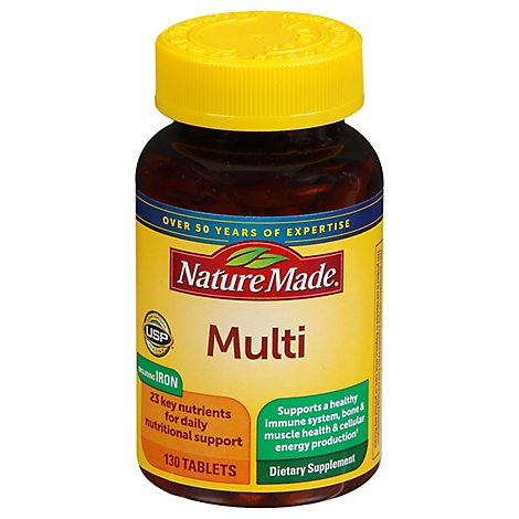Nature Made Multi Complete Tablets With Iron - 130 Count