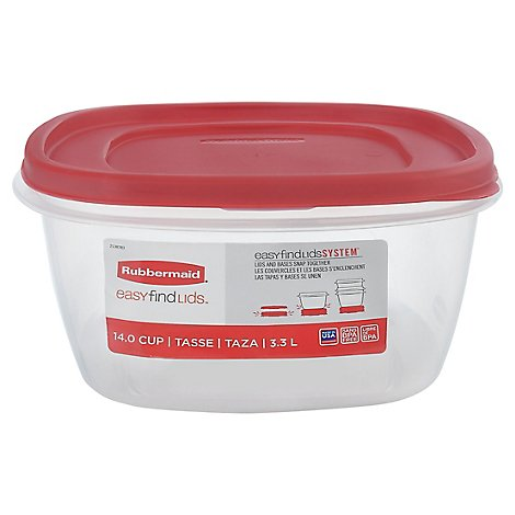 Rubbermaid Square 14 Cup Easy Find Lids - Each