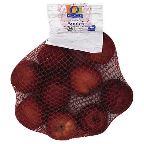O Organics Organic Apples Red Delicious Prepacked - 3 Lb