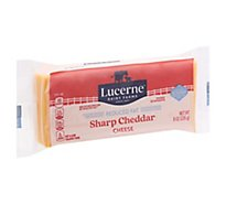 Lucerne Cheese Sharp Cheddar Reduced Fat - 8 Oz