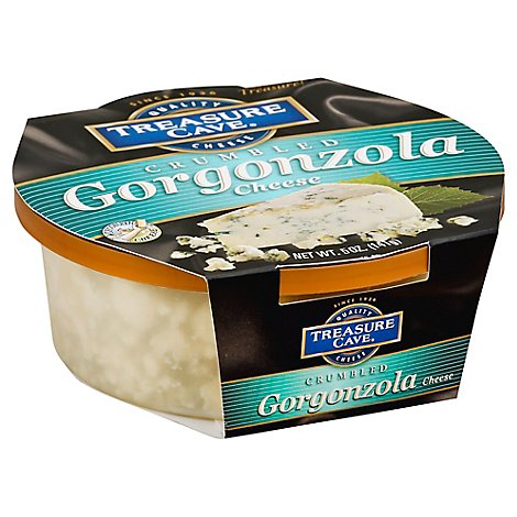 Treasure Cave Cheese Cup Crumbled Gorgonzola - 5 Oz