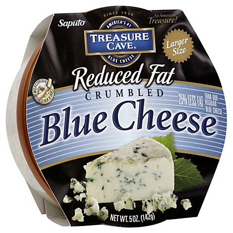 Treasure Cave Cheese Cup Crumbled Blue Cheese Reduced Fat - 5 Oz