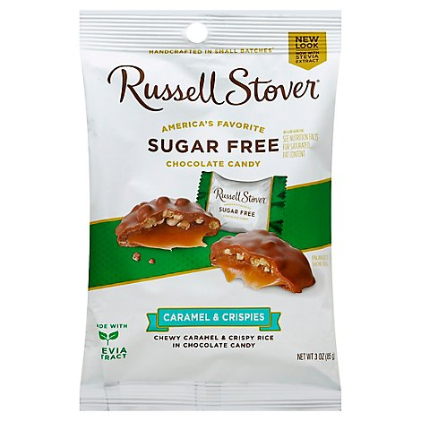 Russell Stover Sugar Free Crispy Caramel Candy - 3 Oz