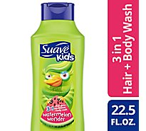 Suave Kids Smoothers Shampoo + Conditioner + Body Wash 3 In 1 Watermelon - 22.5 Fl. Oz.