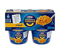Kraft Macaroni & Cheese Dinner Original Cup - 4-2.05 Oz