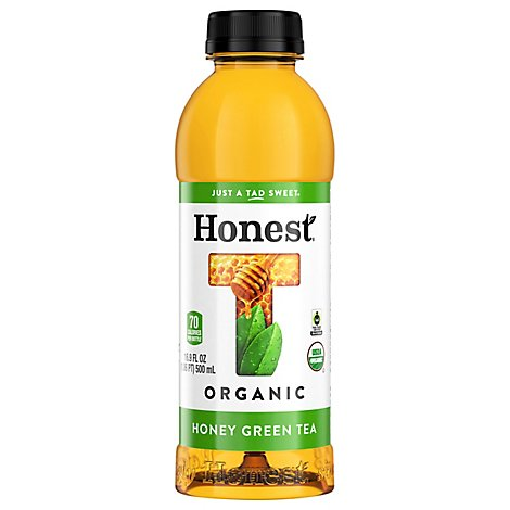 Honest Organic Tea Green Iced Gluten Free Honey - 16.9 Fl. Oz.