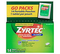 ZYRTEC Allergy Antihistamine Tablets Original Prescription Strength 10 mg - 14 Count