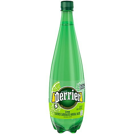 Perrier Carbonated Mineral Water Lime Flavor - 33.8 Fl. Oz.