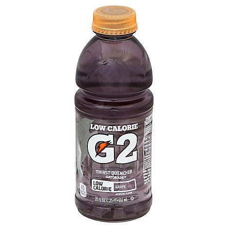 Gatorade G2 Thirst Quencher Low Calorie Grape - 20 Fl. Oz.