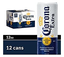 Corona Extra Beer Mexican Lager Cans 4.6% ABV - 12-12 Fl. Oz.