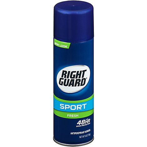 Right Guard Sport Deodorant Antiperspirant Aerosol Fresh - 6 Oz