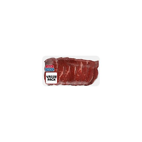 Meat Counter Beef USDA Choice Steak Chuck Cross Rib Boneless Thin Value Pack - 2.00 LB