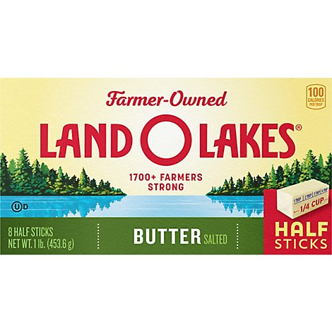Land O Lakes Butter Sweet Cream Salted Half Sticks 8 Count - 1 Lb