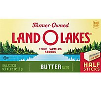 Land O Lakes Butter Stick Half Salted 8 Count - 1 Lb
