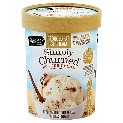 Signature SELECT Churned Light Butter Pecan Ice Cream - 1.50 Quart