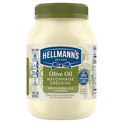 Hellmanns Mayonnaise Dressing Olive Oil - 30 Oz