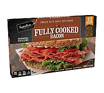 Signature Farms Bacon Fully Cooked Thick Sliced - 10 Count
