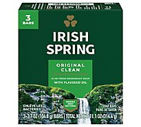 Irish Spring Deodorant Soap Bars Original - 3-3.75 Oz