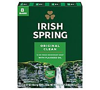 Irish Spring Deodorant Soap Bars Original - 8-3.75 Oz