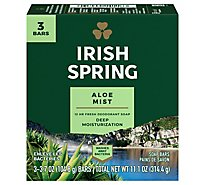 Irish Spring Deodorant Soap Bars Aloe - 3-3.75 Oz