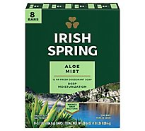 Irish Spring Deodorant Soap Bars Aloe - 8-3.75 Oz
