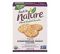 back to NATURE Crackers Organic Stoneground Wheat - 6 Oz