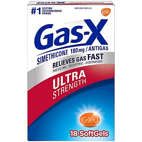 Gas-X Antigas Ultra Strength Softgels - 18 Count