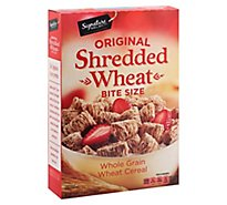 Signature SELECT Cereal Shredded Wheat Bite-Sized - 16.4 Oz