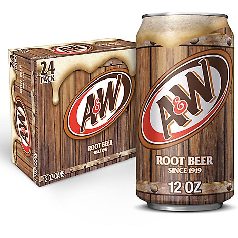 A&W Soda Root Beer - 24-12 Fl. Oz.