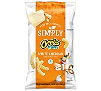 Cheetos Snacks Cheese Flavored Puffs White Cheddar - 8 Oz