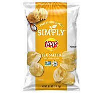 Lays Potato Chips Simply Thick Cut Sea Salted - 8.5 Oz