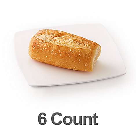 Bakery Rolls French - 6 Count