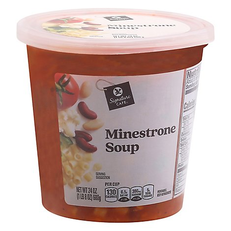 Signature Cafe Minestrone Soup - 24 Oz.