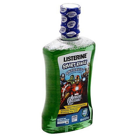 LISTERINE Smart Rinse Mouthwash Anticavity Mint Shield - 16.9 Fl. Oz.