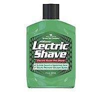 Williams Lectric Shave Electric Razor Pre Shave With Soothing Green Tea Complex Original - 7 Oz