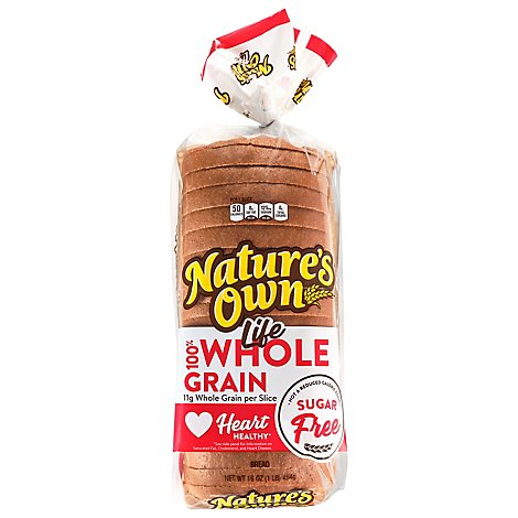 Natures Own 100% Whole Grain Wheat Sugar Free - 16 Oz