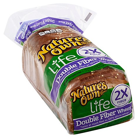 Natures Own Healthline Doulbe Fiber Bread - 20 Oz