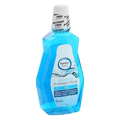 Signature Care Antiseptic Rinse Oral Health Mint - 33.8 Fl. Oz.