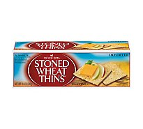 Red Oval Farms Stoned Wheat Thins Crackers Wheat - 10.6 Oz