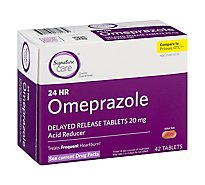 Signature Care Omeprazole Acid Reducer Delayed Release 20mg Tablet - 42 Count
