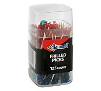 Diamond Toothpicks Frilled Cup - 125 Count