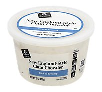 Signature Cafe Soup Clam Chowder New England Style - 15 Oz