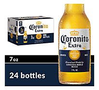Corona Extra Beer Coronita Mexican Lager 4.6% ABV Bottle - 24-7 Fl. Oz.