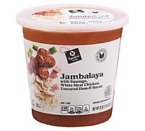 Signature Cafe Spicy Jambalaya with Sausage, White Meat Chicken & Uncured Ham - 24 Oz